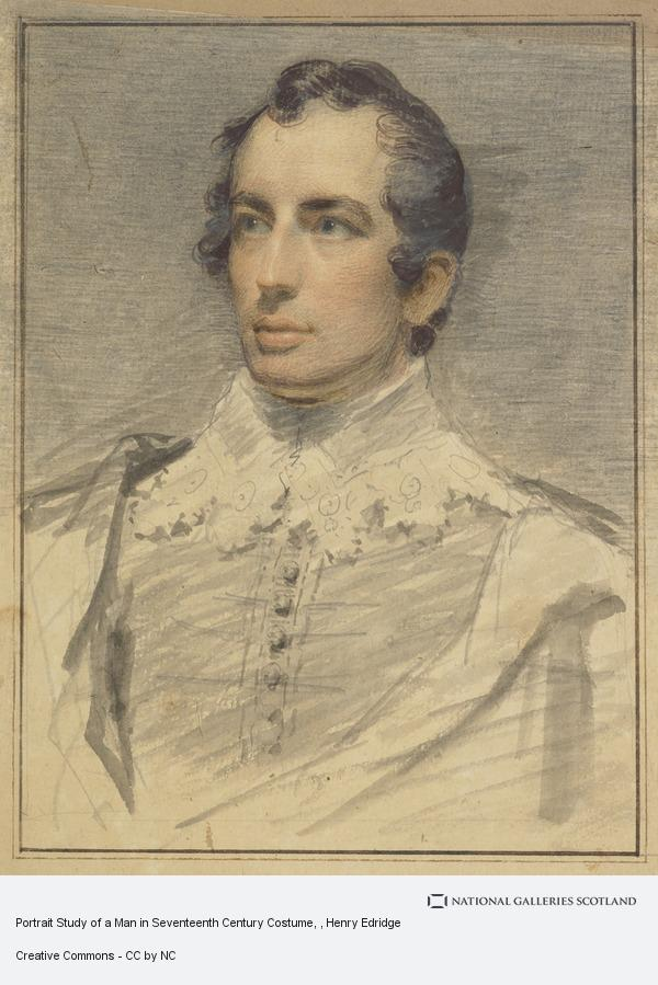 Henry Edridge, Portrait Study of a Man in Seventeenth Century Costume