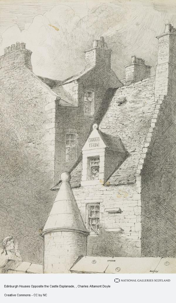 Charles Altamont Doyle, Edinburgh Houses Opposite the Castle Esplanade