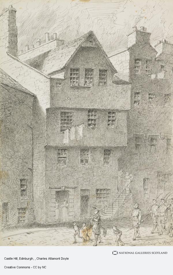Charles Altamont Doyle, Castle Hill, Edinburgh