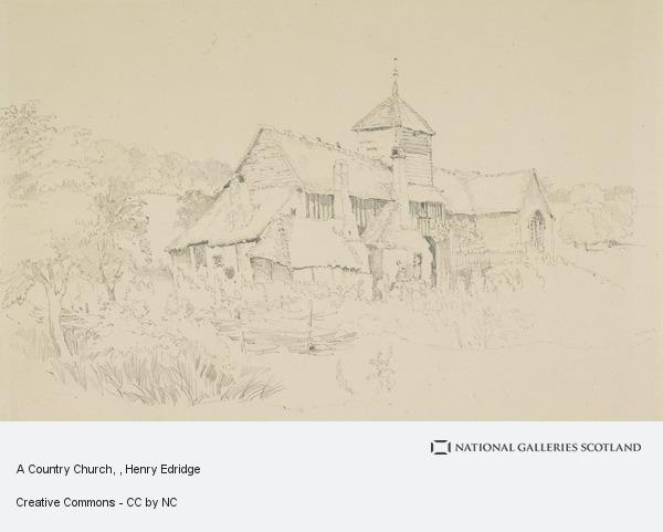 Henry Edridge, A Country Church