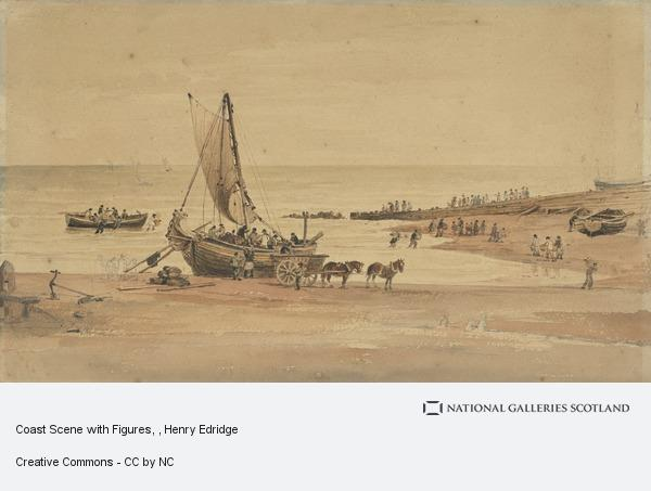 Henry Edridge, Coast Scene with Figures