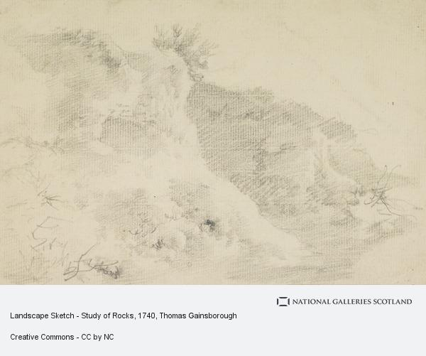 Thomas Gainsborough, Landscape Sketch - Study of Rocks