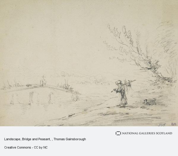 Thomas Gainsborough, Landscape, Bridge and Peasant