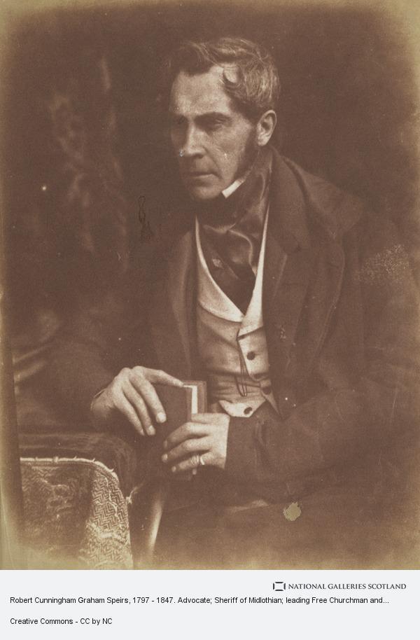 Robert Adamson, Robert Cunningham Graham Speirs, 1797 - 1847. Advocate; Sheriff of Midlothian; leading Free Churchman and elder; prison reformer [a]