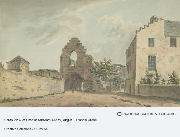 Francis Grose, South View of Gate at Arbroath Abbey, Angus