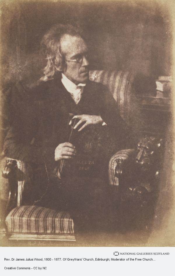 David Octavius Hill, Rev. Dr James Julius Wood, 1800 - 1877. Of Greyfriars' Church, Edinburgh; Moderator of the Free Church Assembly, 1857 [a]