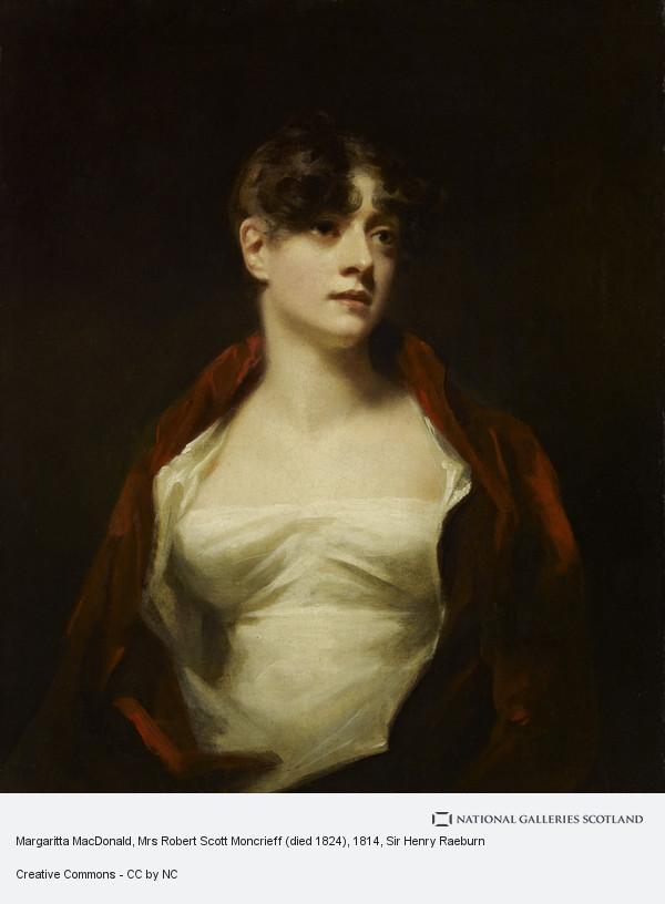 Sir Henry Raeburn, Margaritta MacDonald, Mrs Robert Scott Moncrieff (died 1824)