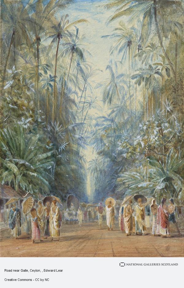 Edward Lear, Road near Galle, Ceylon