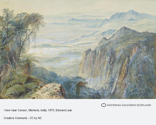 Edward Lear, View near Conoor, Nilcheris, India