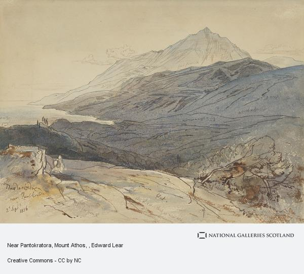 Edward Lear, Near Pantokratora, Mount Athos