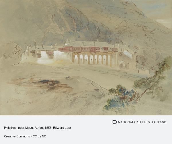 Edward Lear, Philotheo, near Mount Athos