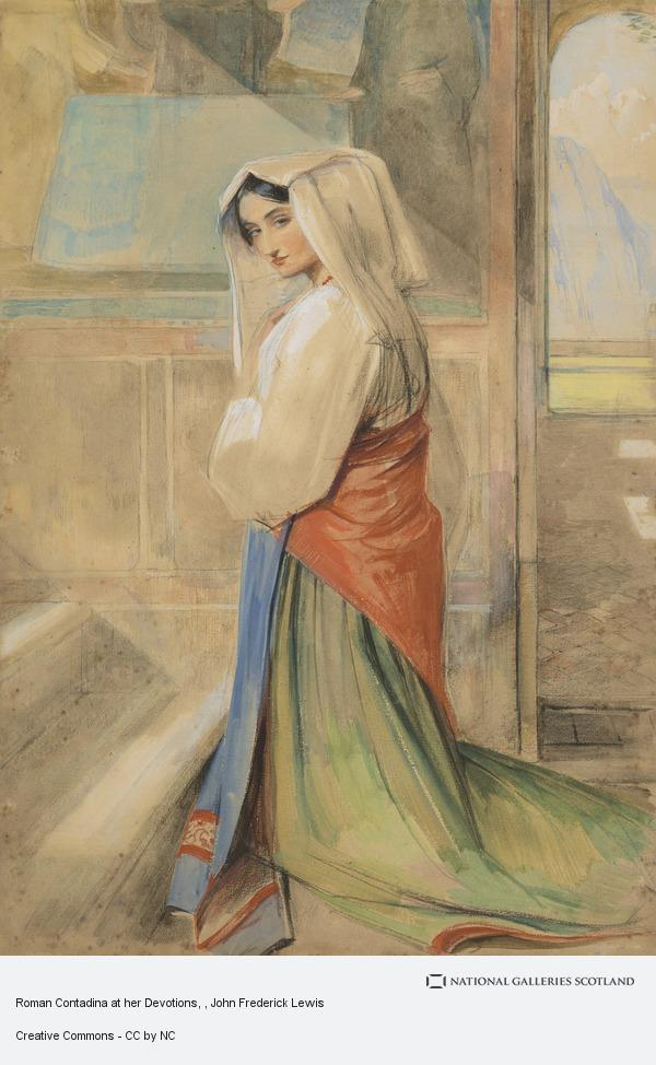 John Frederick Lewis, Roman Contadina at her Devotions
