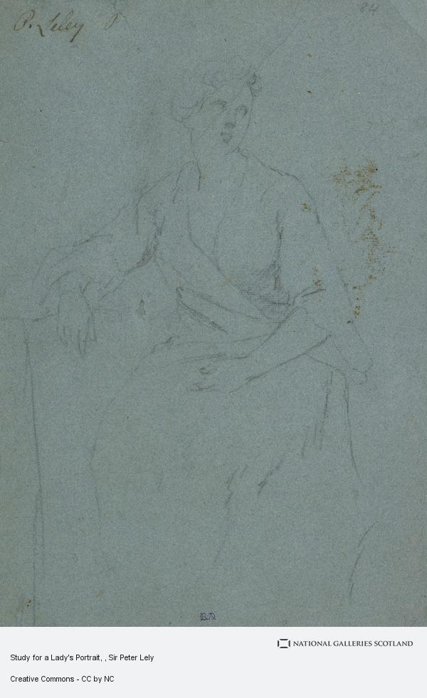 Sir Peter Lely, Study for a Lady's Portrait