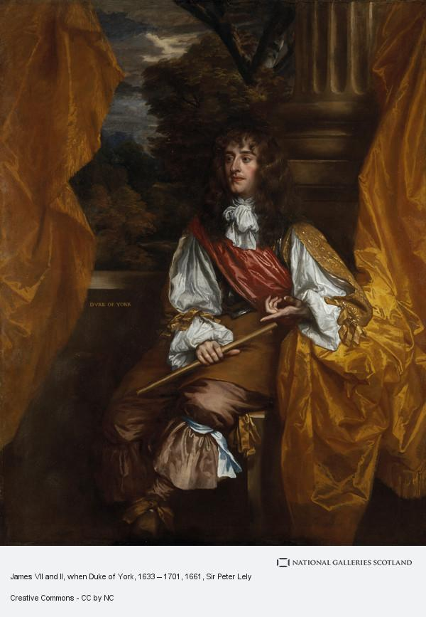 Sir Peter Lely, James VII and II, when Duke of York, 1633 – 1701
