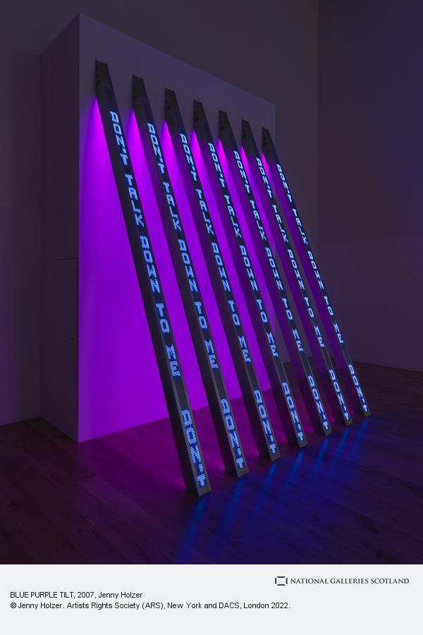 Jenny Holzer, BLUE PURPLE TILT (2007)