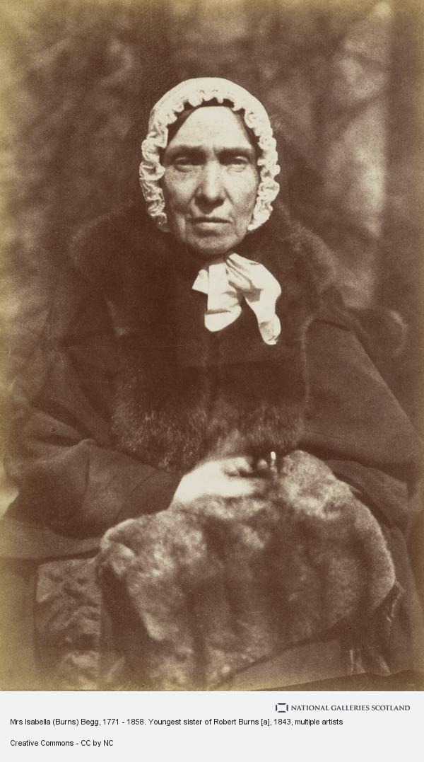Robert Adamson, Mrs Isabella (Burns) Begg, 1771 - 1858. Youngest sister of Robert Burns [a]