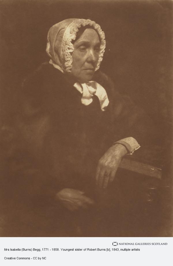 Robert Adamson, Mrs Isabella (Burns) Begg, 1771 - 1858. Youngest sister of Robert Burns [b]