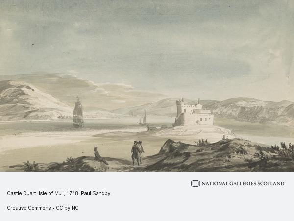 Paul Sandby, Castle Duart, Isle of Mull (Dated 1748)