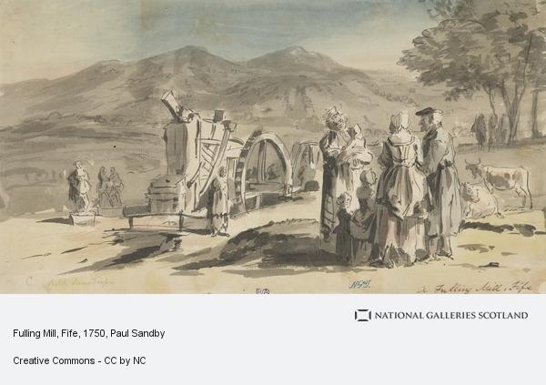 Paul Sandby, Fulling Mill, Fife (About 1750)
