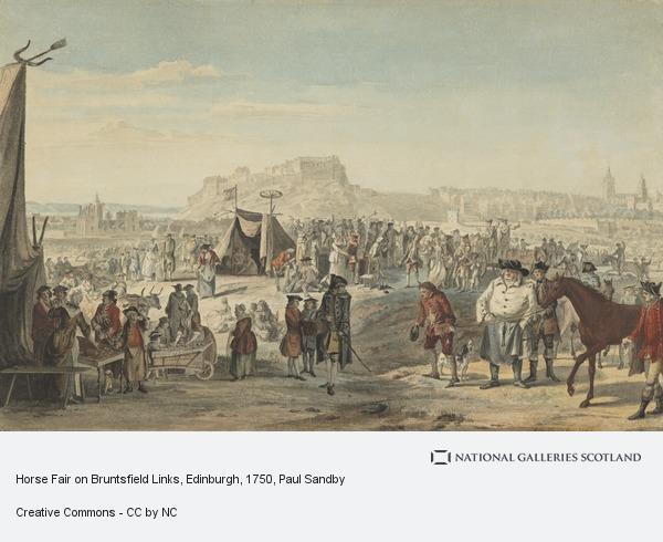 Paul Sandby, Horse Fair on Bruntsfield Links, Edinburgh (1750)