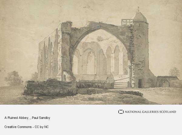 Paul Sandby, A Ruined Abbey