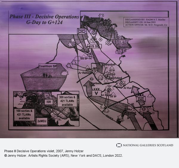 Jenny Holzer, Phase III Decisive Operations violet (2007)