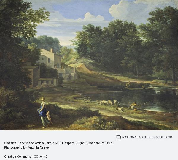 Gaspard Dughet (Gaspard Poussin), Classical Landscape with a Lake