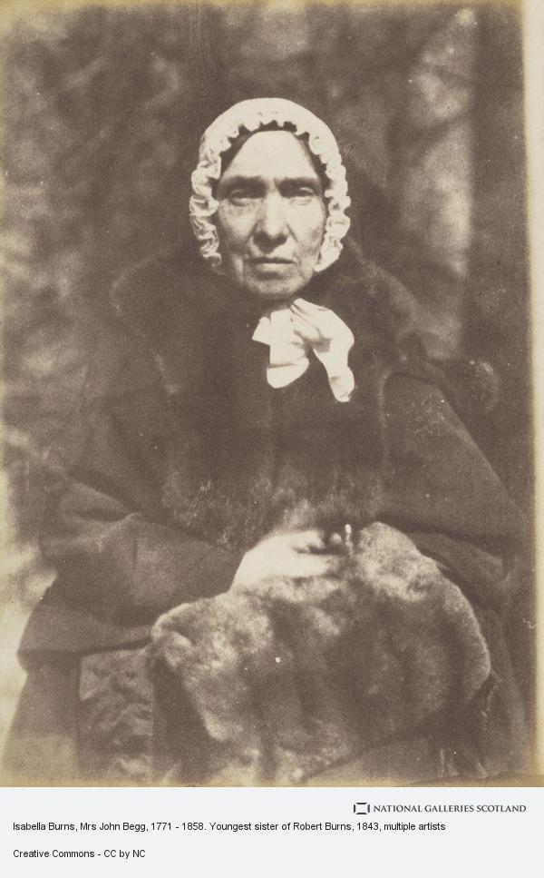 Robert Adamson, Isabella Burns, Mrs John Begg, 1771 - 1858. Youngest sister of Robert Burns (1843 - 1846)