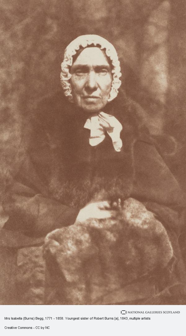 Robert Adamson, Mrs Isabella (Burns) Begg, 1771 - 1858. Youngest sister of Robert Burns [a]