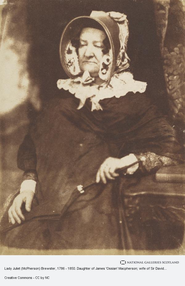 Robert Adamson, Lady Juliet (McPherson) Brewster, 1786 - 1850. Daughter of James 'Ossian' Macpherson; wife of Sir David Brewster