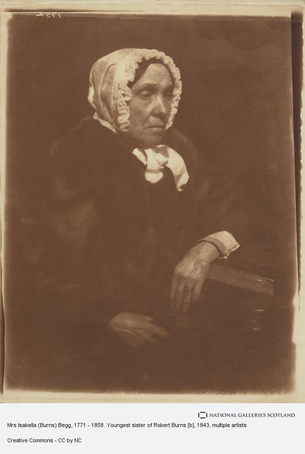 Robert Adamson, Mrs Isabella (Burns) Begg, 1771 - 1858. Youngest sister of Robert Burns [b]