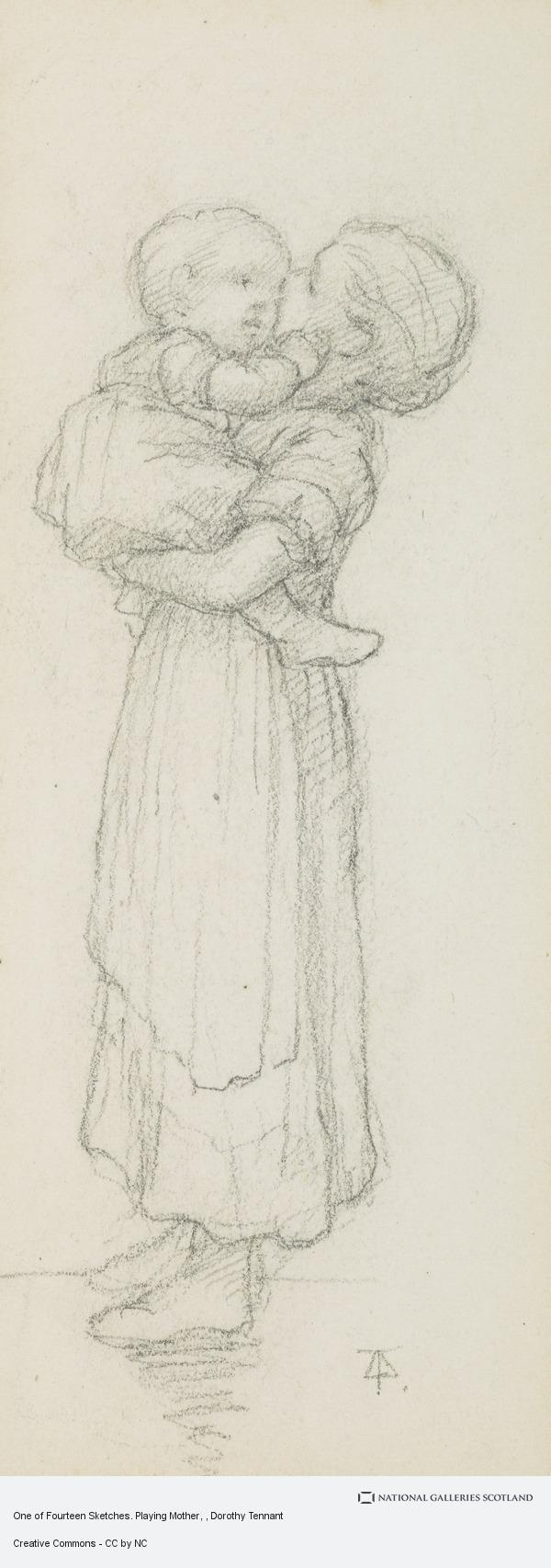Dorothy Tennant, One of Fourteen Sketches. Playing Mother