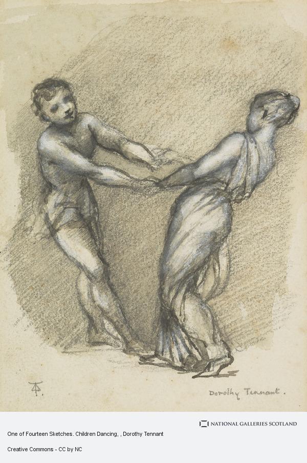 Dorothy Tennant, One of Fourteen Sketches. Children Dancing