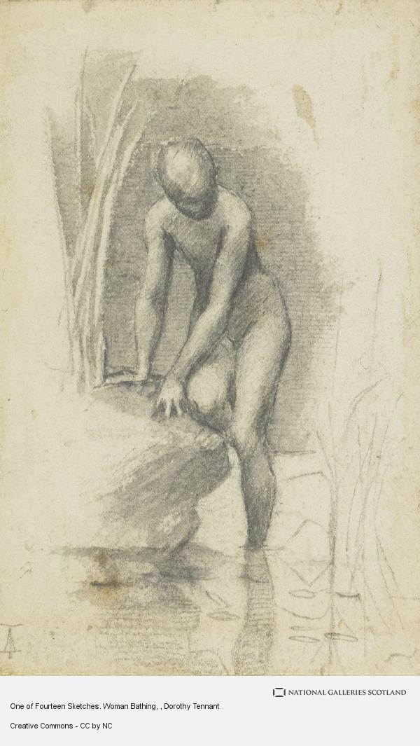 Dorothy Tennant, One of Fourteen Sketches. Woman Bathing
