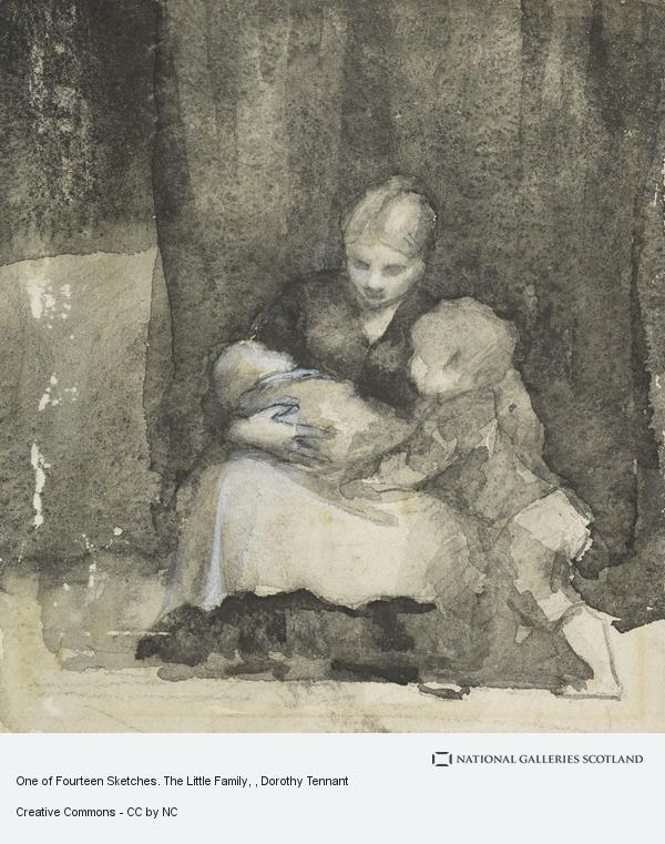 Dorothy Tennant, One of Fourteen Sketches. The Little Family
