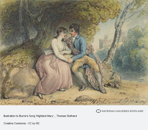 Thomas Stothard, Illustration to Burns's Song 'Highland Mary'