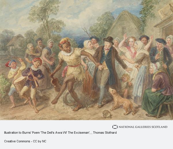 Thomas Stothard, Illustration to Burns' Poem 'The Deil's Awa Wi' The Exciseman'