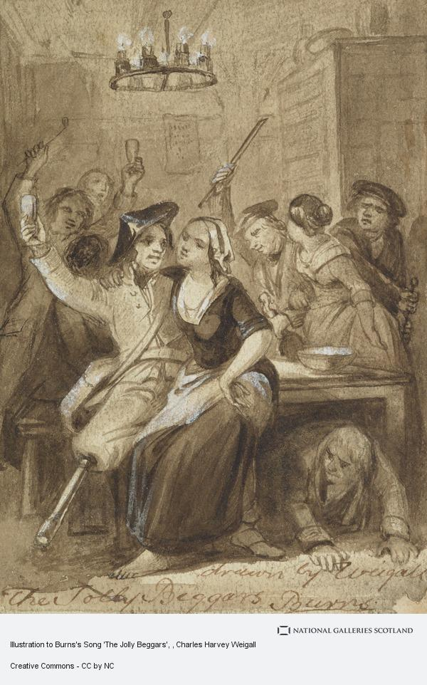 Charles Harvey Weigall, Illustration to Burns's Song 'The Jolly Beggars'