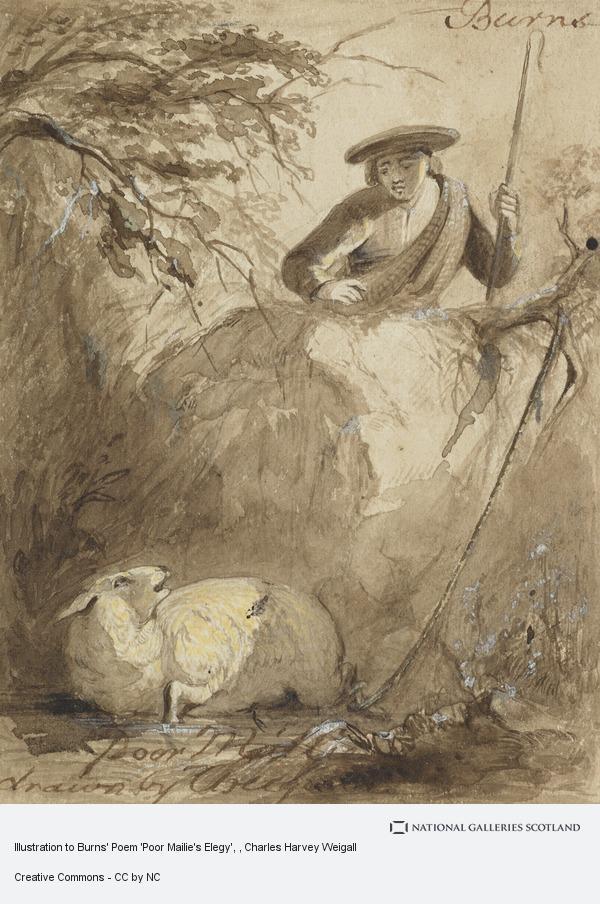 Charles Harvey Weigall, Illustration to Burns' Poem 'Poor Mailie's Elegy'