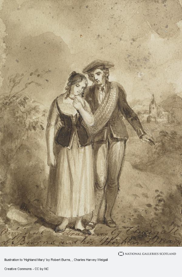 Charles Harvey Weigall, Illustration to 'Highland Mary' by Robert Burns