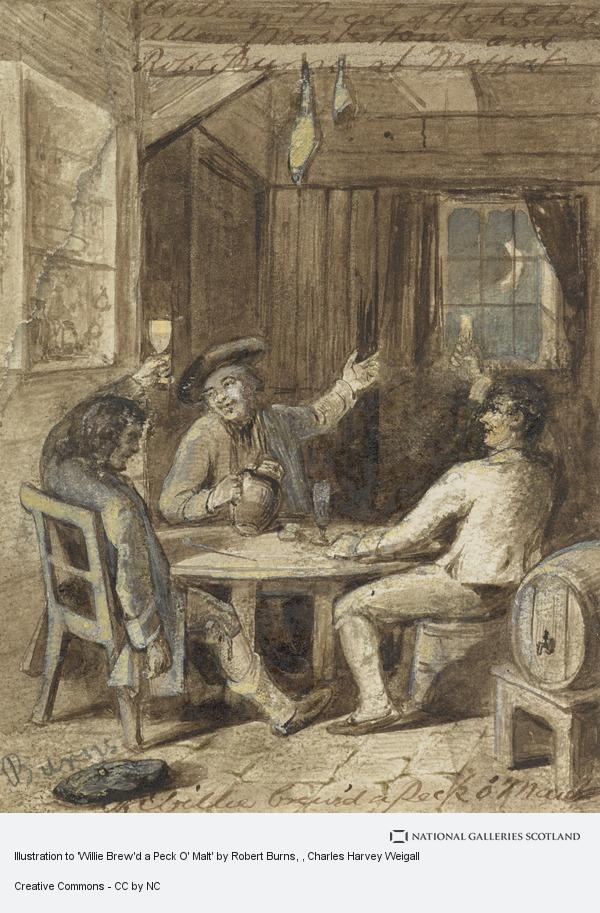 Charles Harvey Weigall, Illustration to 'Willie Brew'd a Peck O' Malt' by Robert Burns