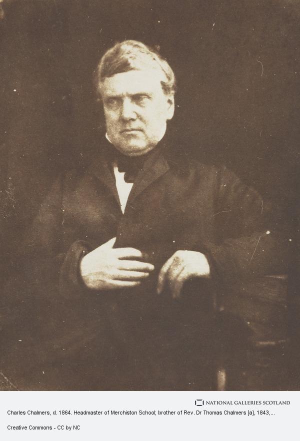 Charles Chalmers, d  1864  Headmaster of Merchiston School