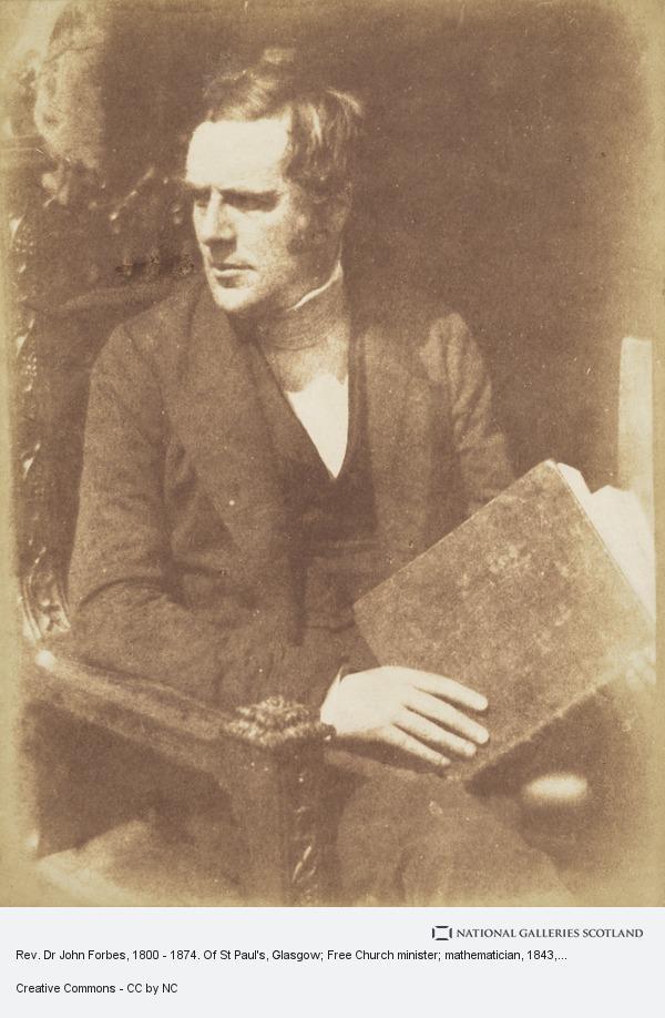 David Octavius Hill, Rev. Dr John Forbes, 1800 - 1874. Of St Paul's, Glasgow; Free Church minister; mathematician