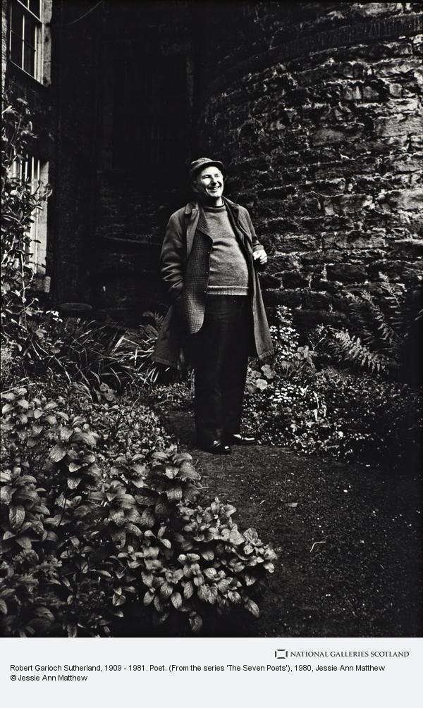 Jessie Ann Matthew, Robert Garioch Sutherland, 1909 - 1981. Poet. (From the series 'The Seven Poets') (1980)