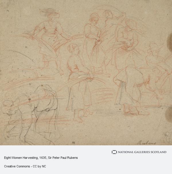Sir Peter Paul Rubens, Eight Women Harvesting
