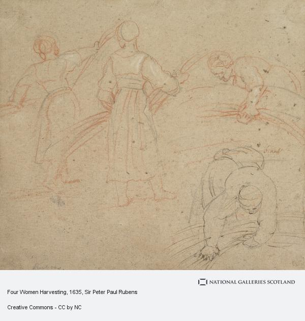 Sir Peter Paul Rubens, Four Women Harvesting