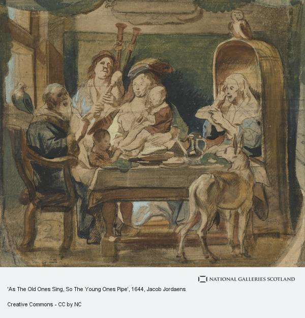 Jacob Jordaens, 'As The Old Ones Sing, So The Young Ones Pipe'