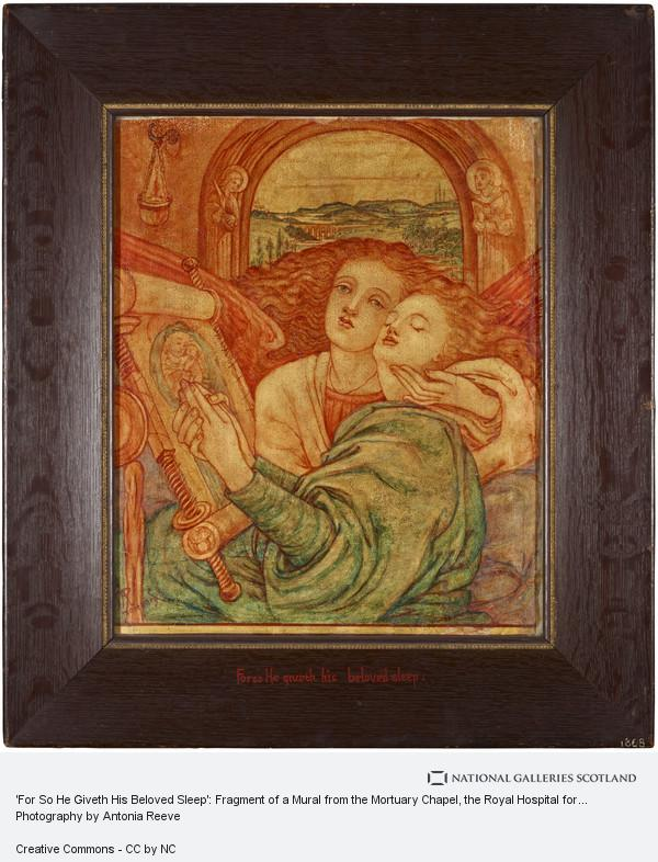 Phoebe Anna Traquair, 'For So He Giveth His Beloved Sleep': Fragment of a Mural from the Mortuary Chapel, the Royal Hospital for Sick Children, Edinburgh