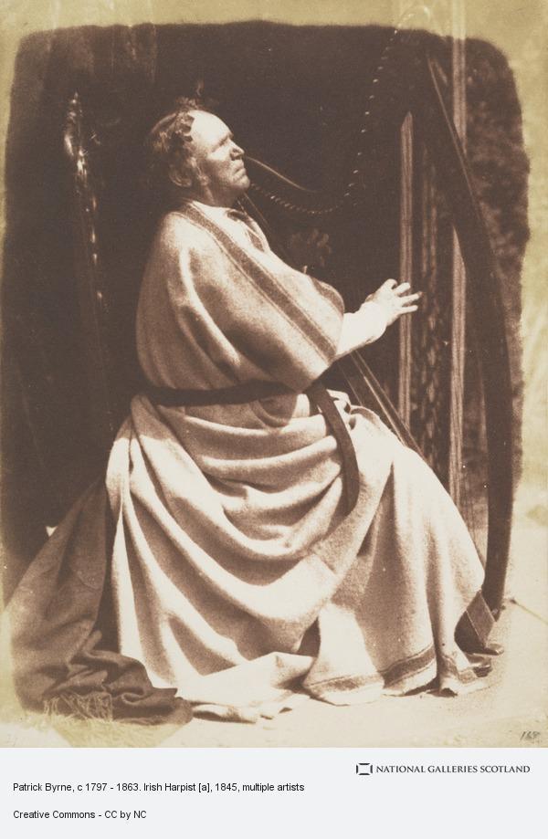 David Octavius Hill, Patrick Byrne, c 1797  - 1863. Irish Harpist [a]