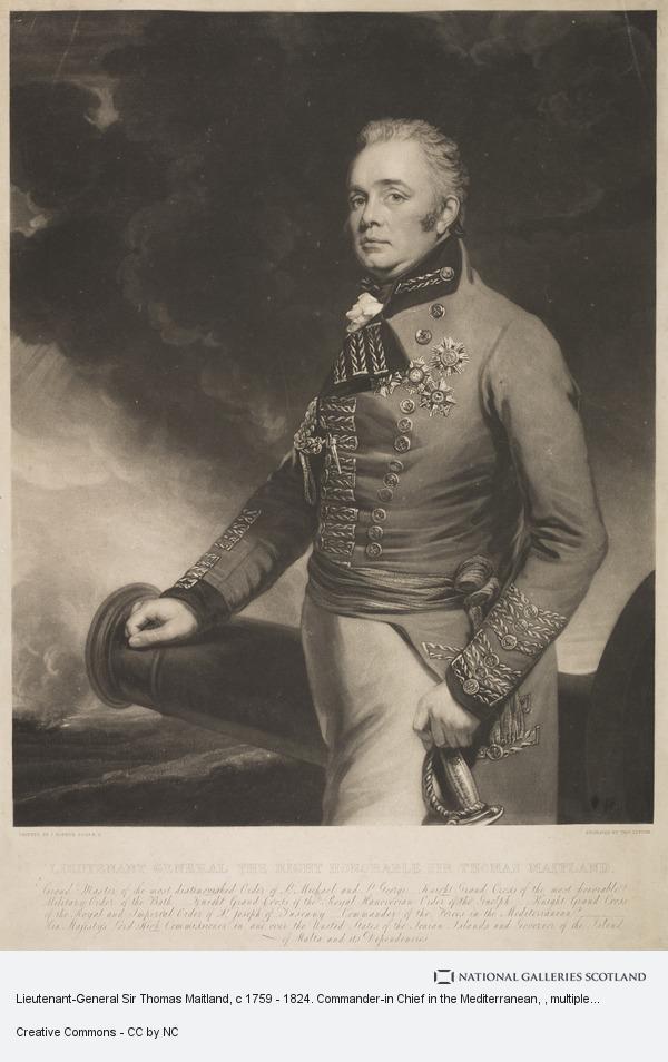 J. Hopner, Lieutenant-General Sir Thomas Maitland, c 1759 - 1824. Commander-in Chief in the Mediterranean